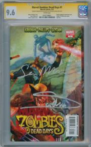 Marvel Zombies Dead Days #1 CGC 9.6 Signature Series Signed Arthur Suydam Sean Phillips Marvel comic book